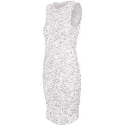 Sukienki: Sukienka damska SUDD445 - ciepły jasny szary melanż