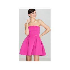 Sukienka K223 Fuksja. Niebieskie sukienki na komunię marki Reserved, z odkrytymi ramionami. Za 129,00 zł.