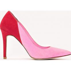 Buty ślubne damskie: NA-KD Shoes Dwukolorowe czółenka - Pink,Red,Multicolor