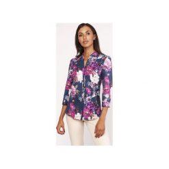 Koszula o luźnym kroju, K111 kwiaty. Szare koszule wiązane damskie Lanti, na jesień, w kwiaty. Za 119,00 zł.