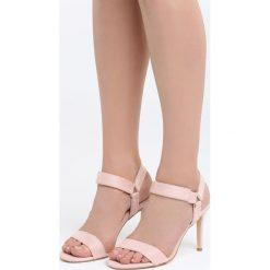 Różowe Sandały It Is All. Czarne sandały damskie marki Kazar, z nubiku, na wysokim obcasie, na szpilce. Za 89,99 zł.
