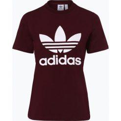 Adidas Originals - T-shirt damski, czerwony. Czerwone t-shirty damskie adidas Originals, s, z nadrukiem, z dżerseju, z klasycznym kołnierzykiem. Za 129,95 zł.