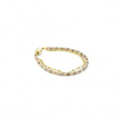 Bransoletka Labladoryt i Kamień Słoneczny złoto. Żółte bransoletki damskie na nogę Brazi druse jewelry, srebrne. Za 180,00 zł.