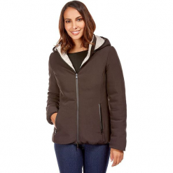 Kurtka zimowa w kolorze brązowym. Brązowe kurtki damskie zimowe marki Snowie Collection, s, ze skóry. W wyprzedaży za 227,95 zł.