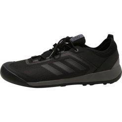 Adidas Performance TERREX SWIFT SOLO Obuwie hikingowe black/blue. Czarne buty sportowe męskie adidas Performance, z materiału, outdoorowe. Za 399,00 zł.