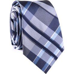 Krawat KWWR001782. Niebieskie krawaty męskie Giacomo Conti, w kratkę, z mikrofibry. Za 69,00 zł.