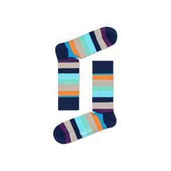 Skarpetki Happy Socks STR01-6007. Brązowe skarpetki męskie Happy Socks, z bawełny. Za 24,43 zł.
