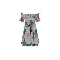 Sukienki krótkie Derhy  AIRAIN. Szare sukienki mini marki Derhy, l, z krótkim rękawem. Za 455,20 zł.