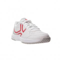 Buty tenisowe TS160 damskie. Białe buty do tenisu damskie ARTENGO, z kauczuku. W wyprzedaży za 79,99 zł.