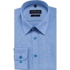 Koszula SIMONE slim KDNS000447. Niebieskie koszule męskie na spinki Giacomo Conti, m, z bawełny, z klasycznym kołnierzykiem. Za 169,00 zł.