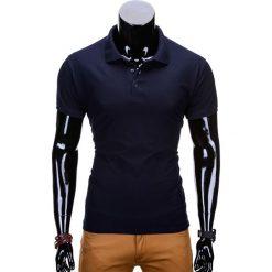 KOSZULKA MĘSKA POLO BEZ NADRUKU S715 - GRANATOWA. Szare koszulki polo marki Lacoste, z gumy, na sznurówki, thinsulate. Za 39,00 zł.