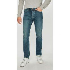Wrangler - Jeansy Spencer. Niebieskie jeansy męskie slim Wrangler, z bawełny. Za 329,90 zł.