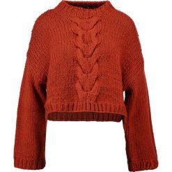 Swetry klasyczne damskie: Native Youth SIENNA  Sweter rust