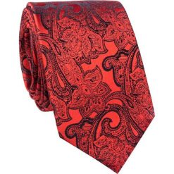 Jedwabny krawat KWWR000250. Czerwone krawaty męskie Giacomo Conti, z jedwabiu. Za 129,00 zł.