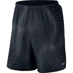 """Nike Spodenki męskie 7"""" Distance Printed Short czarne r. M (717966-011). Czarne spodenki sportowe męskie marki Nike, sportowe. Za 175,00 zł."""