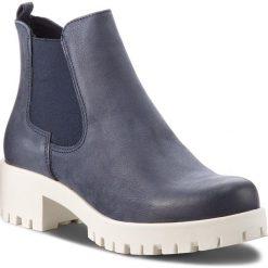 Botki TAMARIS - 1-25435-30 Navy 805. Szare buty zimowe damskie marki Tamaris, z materiału, na sznurówki. W wyprzedaży za 189,00 zł.