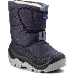 Buty zimowe chłopięce: Śniegowce MUFLON – 22-388CH Granatowy