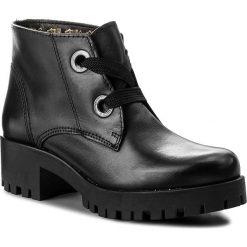 Botki TAMARIS - 1-25223-39 Black 001. Szare buty zimowe damskie marki Tamaris, z materiału, na sznurówki. W wyprzedaży za 189,00 zł.