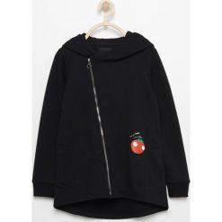 Odzież dziecięca: Bluza z asymetrycznym zamkiem - Czarny