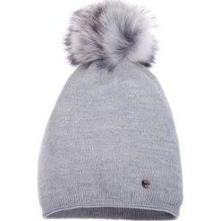 Czapki damskie: Jasnoszara ciepła czapka QUIOSQUE
