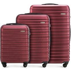 Zestaw walizek 56-3A-31S-30. Czerwone walizki marki Wittchen, z gumy, duże. Za 499,41 zł.