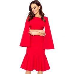 Sukienki: LAURA sukienka z rozciętymi rękawami czerwony