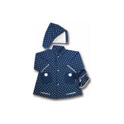 Odzież chłopięca: PLAYSHOES Płaszcz przeciwdeszczowy kolor marine w kropki