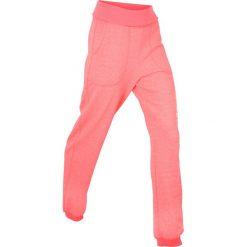 Spodnie sportowe damskie: Spodnie sportowe z wywijanym paskiem, długie bonprix łososiowy neonowy