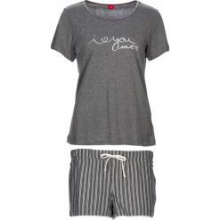 """Piżama """"Soft Dreams"""" w kolorze szarym. Białe piżamy damskie marki LASCANA, w koronkowe wzory, z koronki. W wyprzedaży za 81,95 zł."""