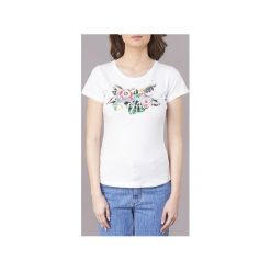 T-shirty z krótkim rękawem Pepe jeans  ADIE. Szare t-shirty damskie marki Pepe Jeans, m, z jeansu, z okrągłym kołnierzem. Za 103,20 zł.