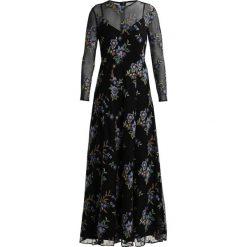 IVY & OAK EMBROIDERED EVENING DRESS Długa sukienka black. Czarne długie sukienki IVY & OAK, z materiału, z długim rękawem. W wyprzedaży za 599,25 zł.
