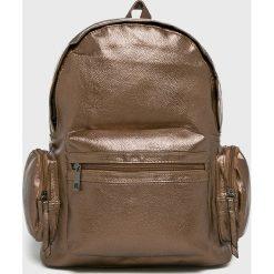Answear - Plecak. Brązowe plecaki damskie ANSWEAR, z materiału. W wyprzedaży za 49,90 zł.