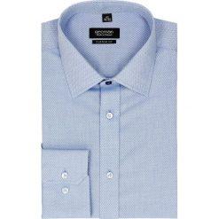 Koszula bexley 2296 długi rękaw custom fit niebieski. Niebieskie koszule męskie jeansowe marki Recman, m, button down, z długim rękawem. Za 139,00 zł.