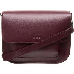 """Skórzana torebka """"Cambridge 7"""" w kolorze bordowym - 27 x 19 x 14 cm. Czerwone torebki klasyczne damskie BREE, w paski, z materiału. W wyprzedaży za 909,95 zł."""