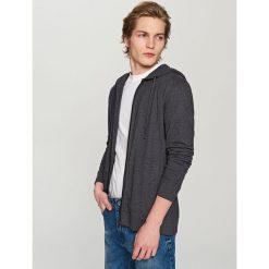Rozpinana bluza z kapturem - Szary. Czarne bluzy męskie rozpinane marki Reserved, l, z kapturem. Za 139,99 zł.