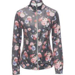Bluzy rozpinane damskie: Bluza aksamitna bonprix srebrny w kwiaty