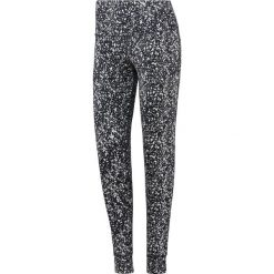 Spodnie damskie: Reebok Spodnie damskie Lux Bold High Rise czarno-białe r. M (BQ8179)