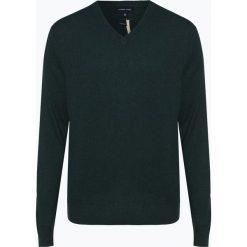 Andrew James - Sweter męski z dodatkiem kaszmiru, zielony. Zielone swetry klasyczne męskie Andrew James, l, z kaszmiru, z dekoltem w serek. Za 229,95 zł.