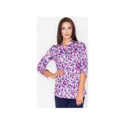 Koszula M504 Wzór 22. Różowe koszule wiązane damskie FIGL, m, ze stójką. Za 119,00 zł.