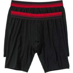 Długie bokserki (2 pary) bonprix czarno-ciemnoczerwony. Czarne bokserki męskie bonprix, w paski. Za 45,98 zł.