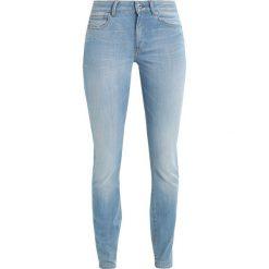 GStar GSTAR SHAPE HIGH SUPER SKINNY  Jeans Skinny Fit legend ultimate stretch denim. Niebieskie jeansy damskie relaxed fit marki G-Star, z bawełny. W wyprzedaży za 395,40 zł.
