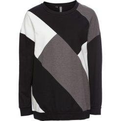 "Swetry oversize damskie: Sweter ""patchwork"" bonprix czarny – patchwork"