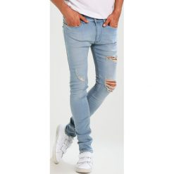Spodnie męskie: Antioch RIPPED SPRAY ON Jeansy Slim fit light blue wash