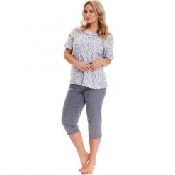 Piżama w kolorze szarym - t-shirt, spodnie. Szare piżamy damskie Doctor Nap, l, w kropki. W wyprzedaży za 74,95 zł.