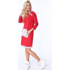 Sukienka z koralikami czerwona 1651. Czerwone sukienki Fasardi, l. Za 44,00 zł.