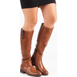 KLASYCZNE PŁASKIE KOZAKI. Brązowe buty zimowe damskie FILIPPO, na płaskiej podeszwie. Za 309,90 zł.
