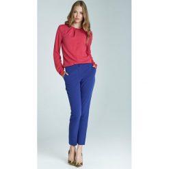 Rurki damskie: Niebieskie Klasyczne Wąskie Spodnie Cygaretki