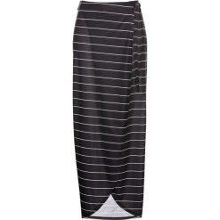 Spódnica z dżerseju bonprix czarno-biały w paski. Białe spódnice wieczorowe marki QUIOSQUE, s, z haftami, z tkaniny, dopasowane. Za 49,99 zł.