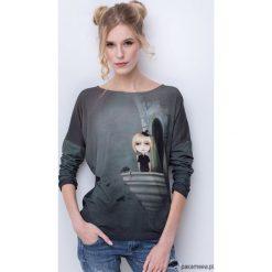 Magic girl bluzka z nadrukiem. Szare bluzki dziewczęce z nadrukiem marki Pakamera, z bawełny. Za 149,00 zł.