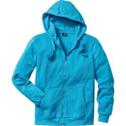Bluza rozpinana z kapturem Regular Fit bonprix turkusowy. Niebieskie bejsbolówki męskie bonprix, l, z dresówki, z kapturem. Za 79,99 zł.